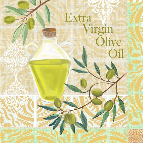 Olive Kitchen Decor: Items Similar To Olive Oil Art, Kitchen Wall Decor, Food Wall Art By Farida Zaman, Cooking Wall