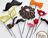 The Photo Booth Prop Masquerade - Set of 10