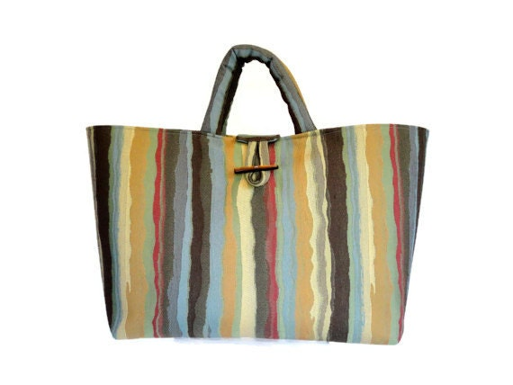 Knitting Project Bags For Sale : Knitting tote large upholstery project bag by