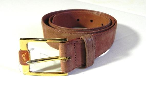 Vintage Ysl Belt Yves Saint Laurent Leather Logo Bucket
