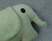 Elephant Toy, Mint Green Minky - FREE SHIPPING (US Domestic)