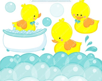 Digital rubber duck graphics yellow duck clipart 5 00 jwillustrations
