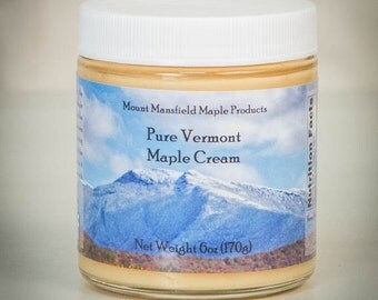 Pure Vermont Maple Cream- 6oz Jar