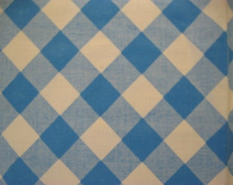 Gingham Tablecloth, Table cloth, Blue and White Check, Diner, Cafe, Picnic, Square