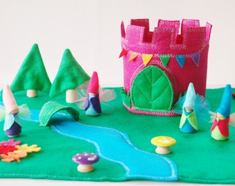 Glitter Felt Fairy Castle - Fairy princess - Woodland Fairy House - Felt  Play Set - Felt Toy - Unique Christmas Gift - Zooble