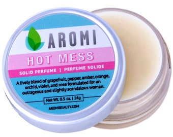 Hot Mess Solid Perfume.  Woman's Perfume. Funny Women's Gift. Solid Fragrance. Woman's Gift