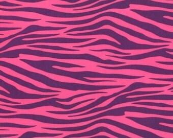Zebra Stripe in Plum, Pink and Purple Zebra Print, Metro Living by Robert Kaufman Fabrics, 1 Yard