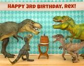 Customizable Personalized Birthday Print: Dinosaur Edition