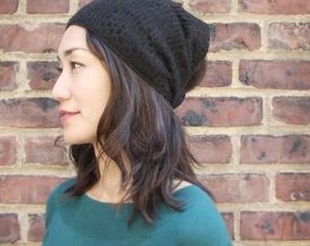 Wool Headband, Winter hat, Wool hat, Ear warmer, BLACK, Boho headwrap, adult hats, Woman hats, Turban, black headwrap, fabric headwrap