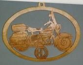 Handmade custom Scroll Saw  Fret wooden  motorcycle wall plaque