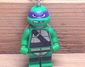 Donatello Necklace - Lego Minifigure - Teenage Mutant Ninja Turtles