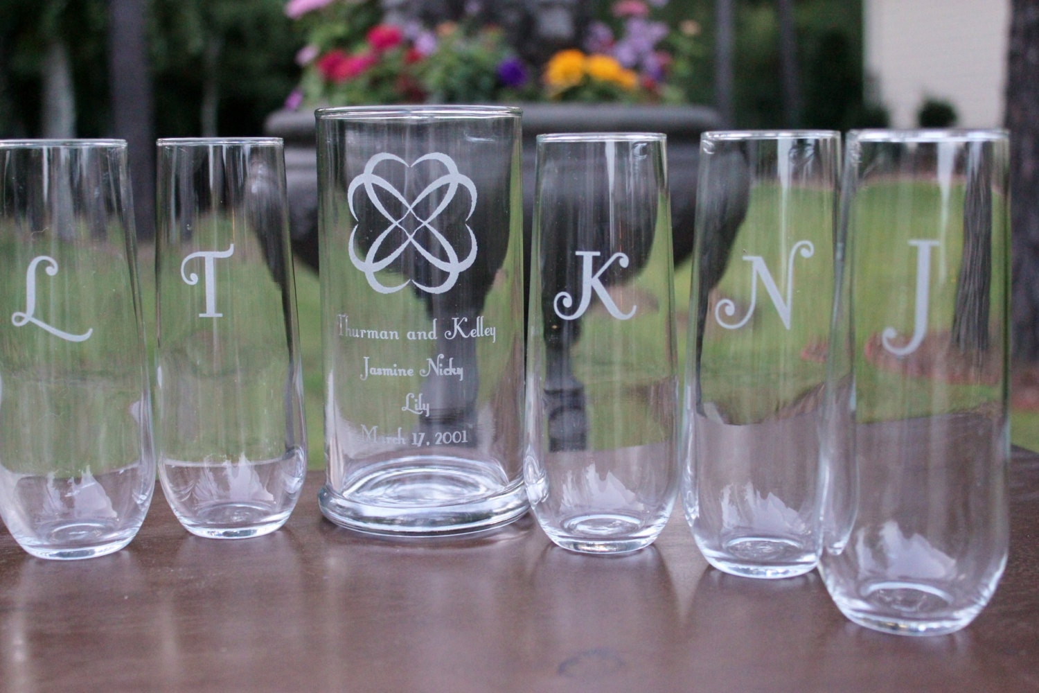 Blended Family 7 Piece Wedding Sand Ceremony Set Engraved