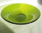 FUSED GLASS Bowl - As Seen on DIY Network Lime Green Decorative Bowl, Art Glass Bowl, Wedding Gift, New Home Gift, Under 75, Spring Trends