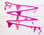 Pink Purple Coral Red Mini Bunting LAST ONE Good WIll Bunting Sweets