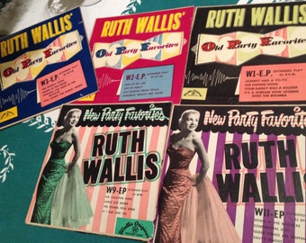 Five 45 RPM Extended Play RUTH WALLIS – Party Music