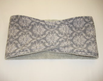 Male Dog Diaper - Belly Band - Gray Damask - This Listing for XS - Large