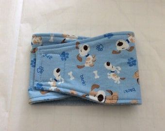 Dog Diaper - Male Dog Belly Band - Puppies, Bones and Paws - Available in all Sizes