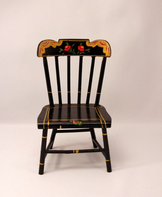 Miniature Red Rocking Chair ~ Pennsylvania dutch miniature doll chair ginny size