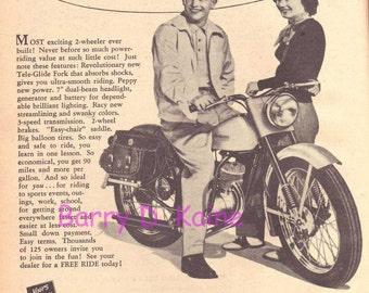 Vintage Harley Davidson Ad 1951 print