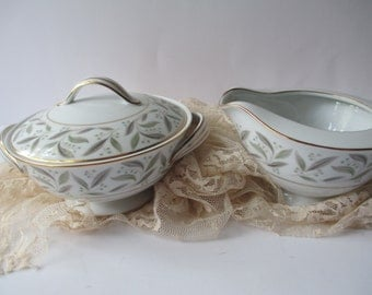 Vintage Noritake China Carole Cream & Sugar Set