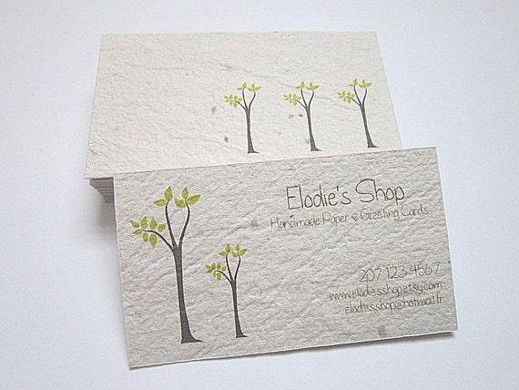 Items similar to Custom Business Cards Handmade Paper