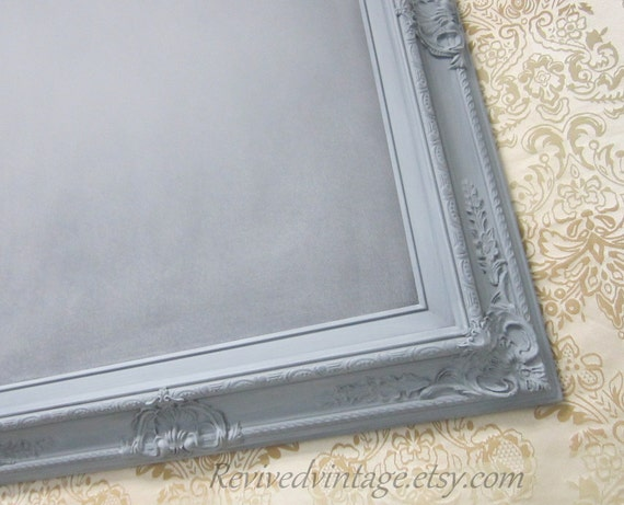 Pewter GRAY FRAMED CHALKBOARD Home Decor Kitchen By