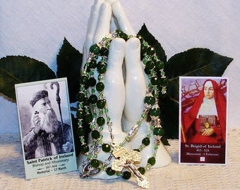 Saint Patrick & Saint Bridget of Ireland Catholic Rosary - Patron Saint of Ireland, Engineers, Ophidiophobics, Infants and Midwives