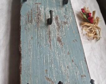 Antique Rustic Key & Jewellery Shelf Dispaly Wooden Home Decor Primitive Home Supplies OOAK
