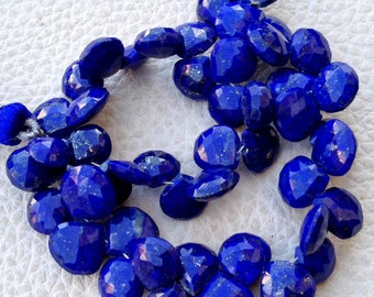 Brand New,8 Inch Full Strand, Lapis Lazuli Faceted Heart Briolettes,(Size 8-8.50mm approx),Great Quality at Low Price