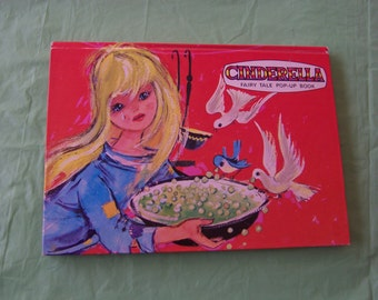 Cinderella Fairy Tale Pop-Up Book - red hardcover, printed in The Netherlands