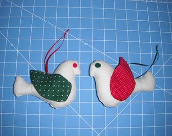 Bird Ornament - Fabric - soft sculpture - Holidays- home decor
