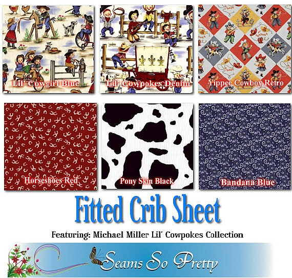 Fitted Mini Or Standard Crib Sheet Featuring Michael Miller