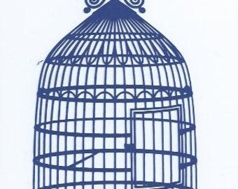 Stunning bird cage silhouette