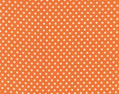 Small Polka Dot in Orange from the Dottie Collection, by Moda, 1 yard