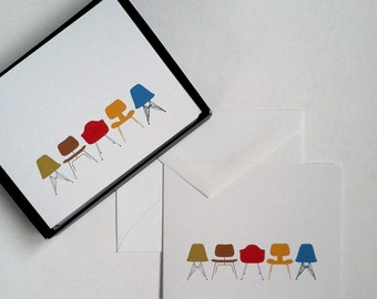 Modern Eames Chairs Cards Boxed Notecards