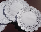 Blank 4 Inch French Lace Paper Doilies // Set of 25