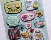 Word and Bird Dimensional Sticker Embellishments from K&Company