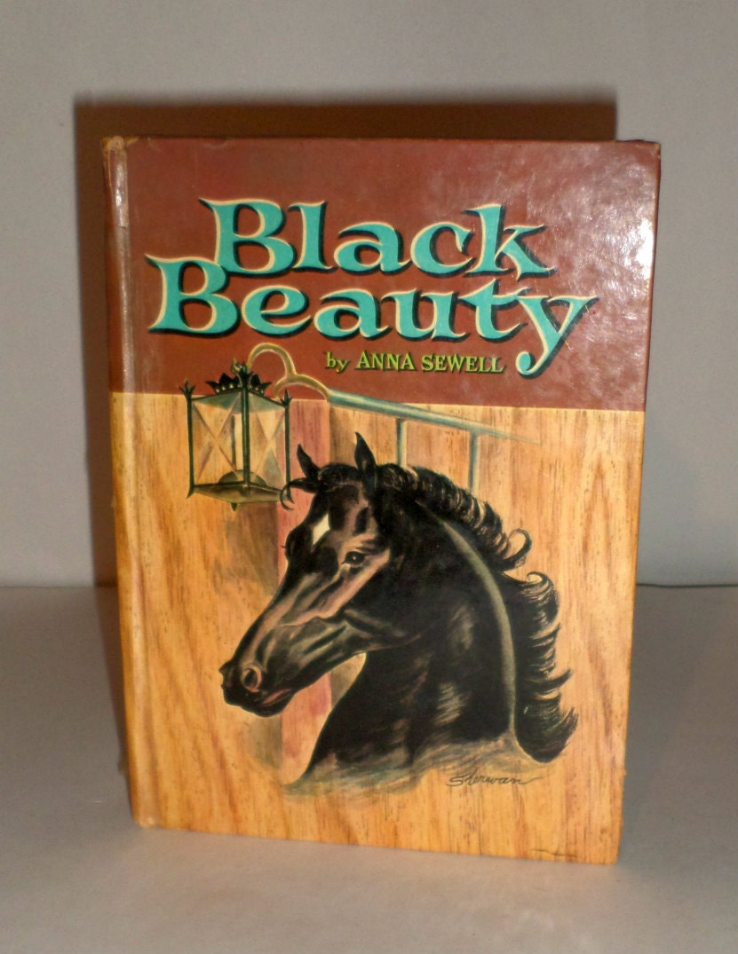 Book Cover Of Black Beauty ~ Vintage black beauty book edition