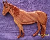 Intarsia Standing Quarter Horse