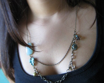 Iris Long Necklace,statement necklace