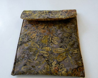 Brown Dragonfly Batik Kindle Fire/iPad Mini Sleeve