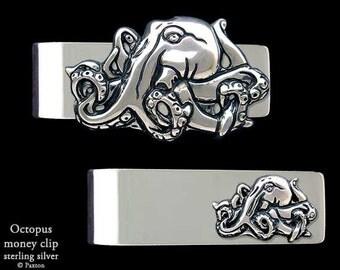 Octopus Money Clip Sterling Silver