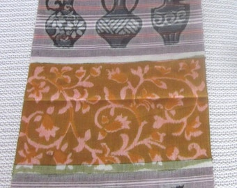 SALE vintage Japanese IKAT cotton ethnic fabric sew supplies Destash from MyGypsyCottage on Etsy