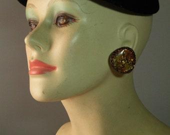 Vintage Amber Confetti Earrings