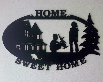 Home Sweet Home /  Metal Sign / Home Decor / Wall hanging / Metal Art