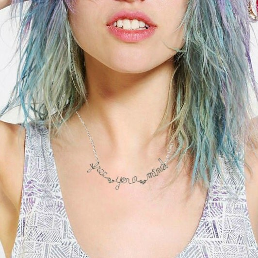 On Sale - 10% Off -Free Your Mind Necklace - Hippie Jewelry - Bob Marley Lyrics