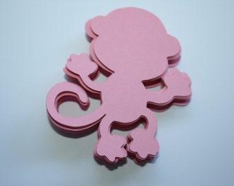 18 x Monkey Die Cuts - Pink