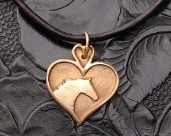 Horse lover Necklace in Bronze