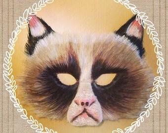 Grumpy cat mask, cat mask, animal mask, cat costume, animal costume, pop culture, funny costume, funny mask, adult mask, adult costume