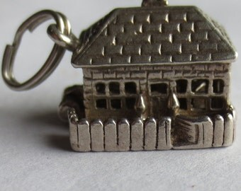 NUVO MOVABLE COTTAGE Sterling Silver Charm or Pendant